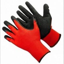 Перчатки нейлоновые с нитрилом (красно-черные)
